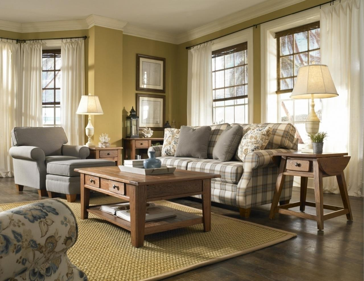 Country Style Living Room Furniture Ideas 4