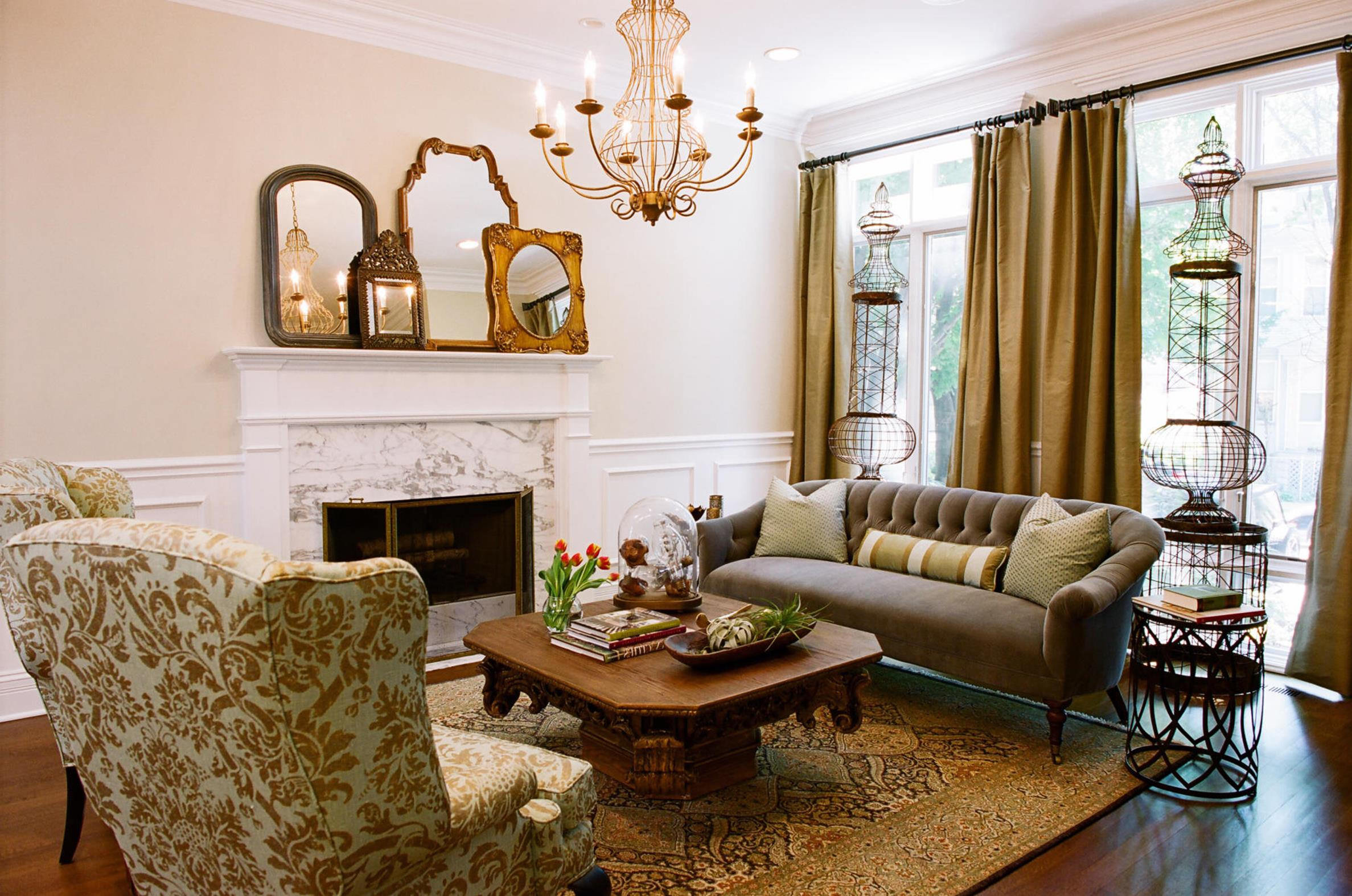 Country Style Living Room Furniture Ideas 6