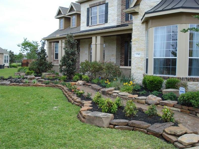 Front Yard Landscaping With Rocks 1