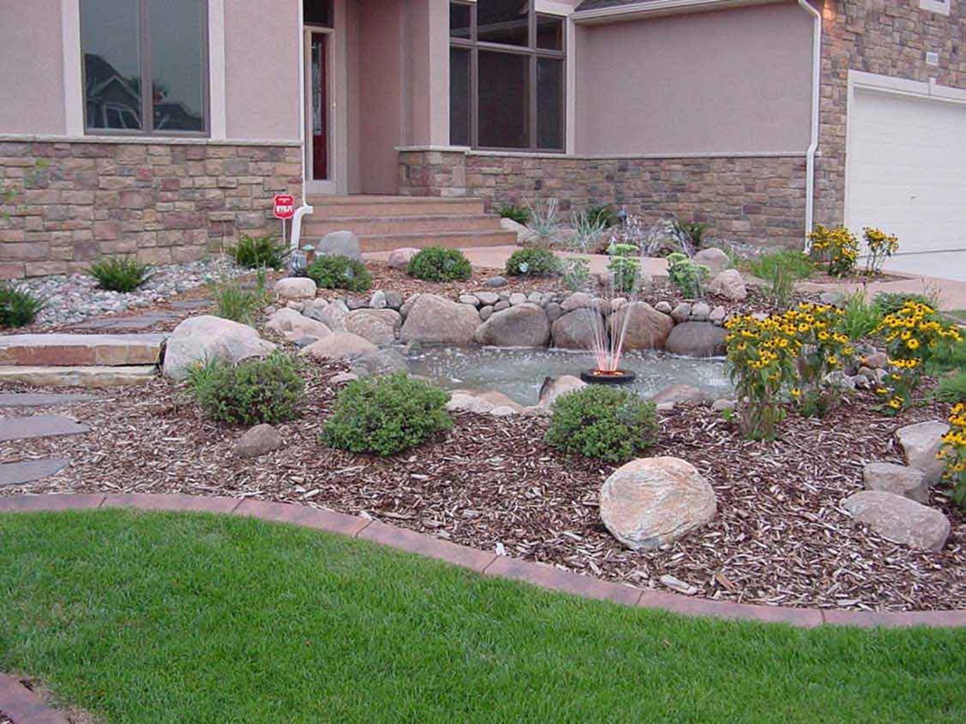 Front Yard Landscaping With Rocks 12