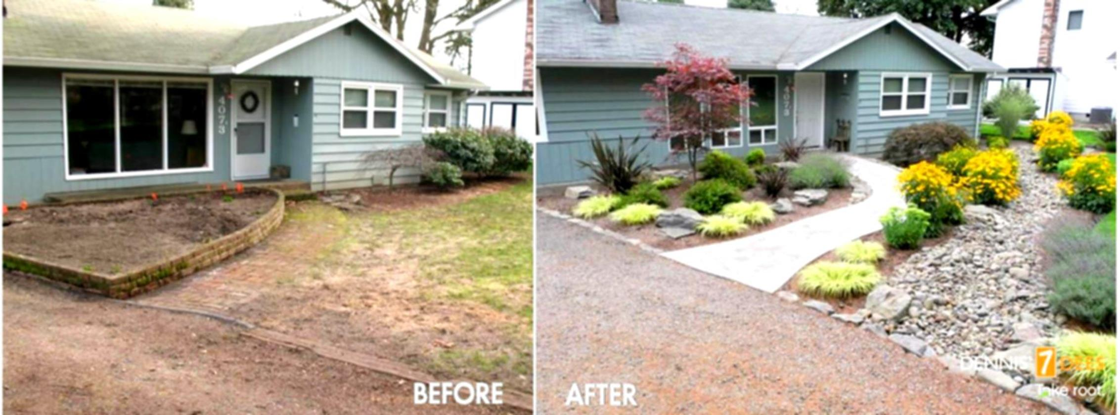 Front Yard Landscaping With Rocks 14