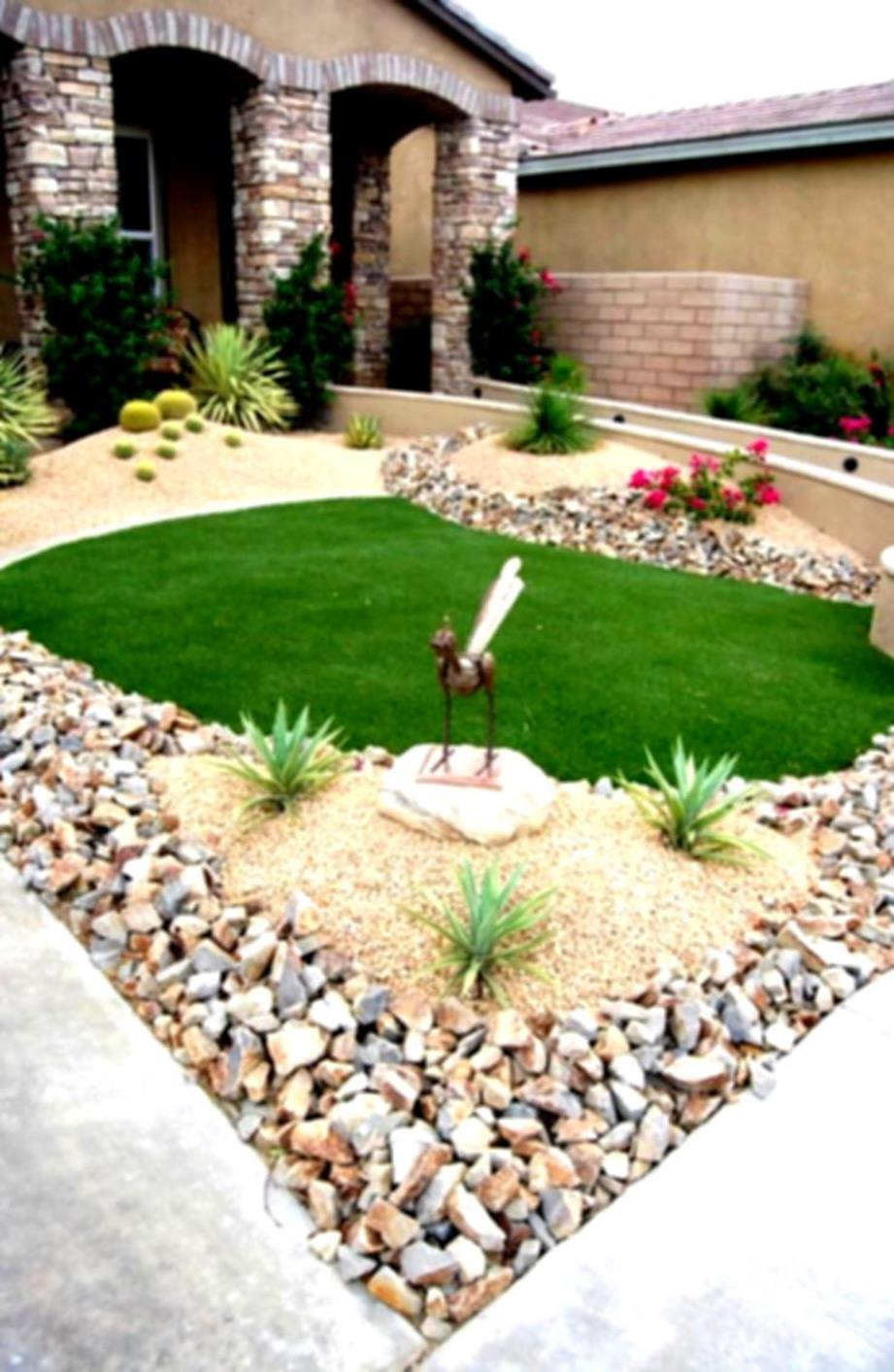 Front Yard Landscaping With Rocks 31