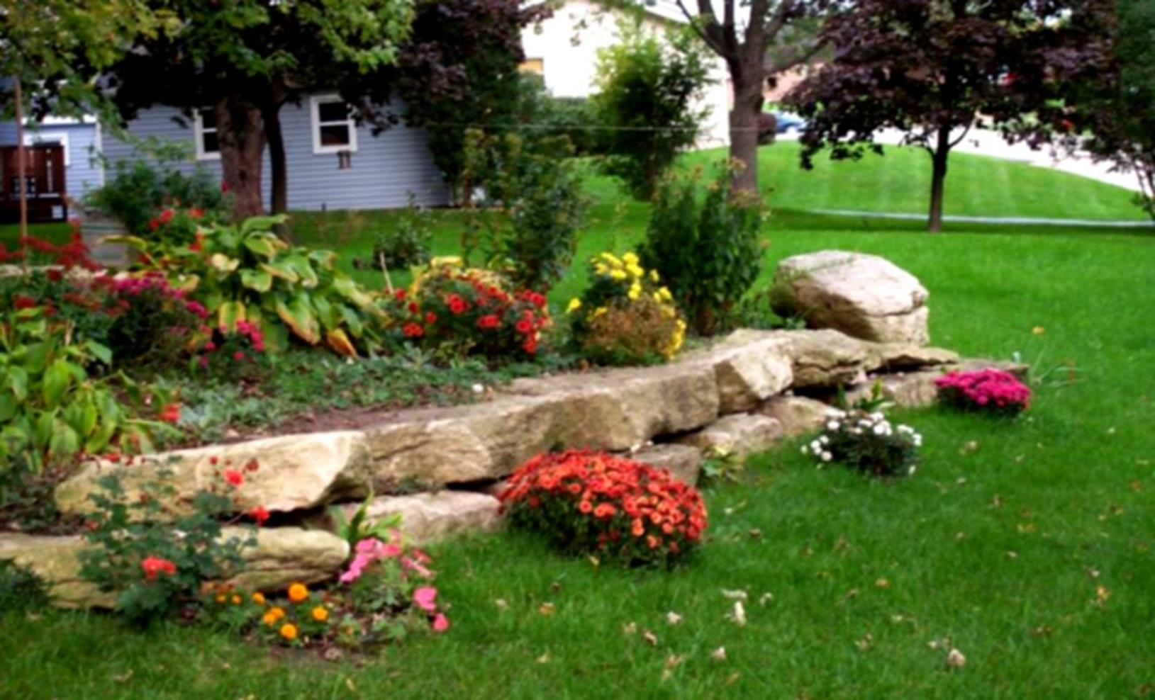 Front Yard Landscaping With Rocks 34
