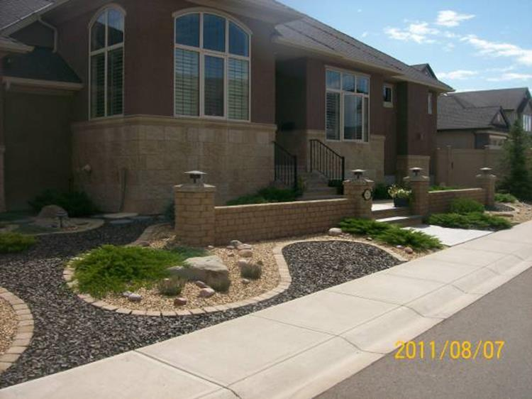 Front Yard Landscaping With Rocks 6