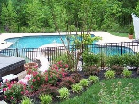 Low Maintenance Landscaping around Pool 2