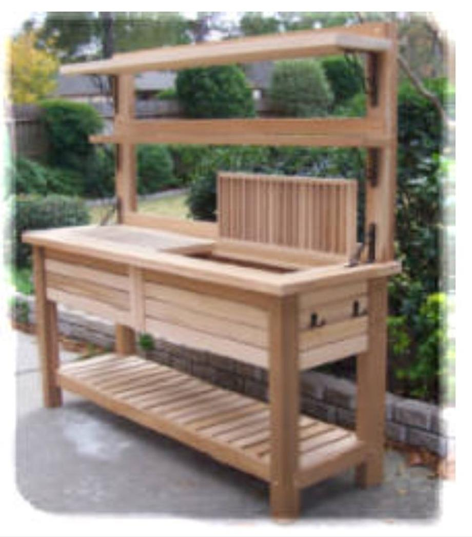 Outdoor Garden Potting Bench Design Ideas 24