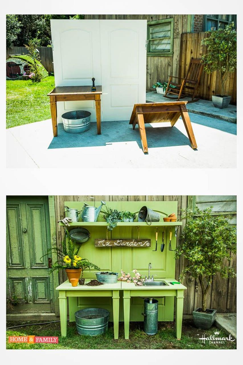 Outdoor Garden Potting Bench Design Ideas 3