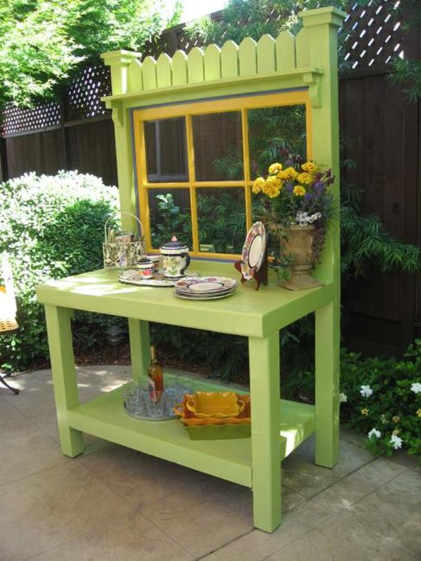 Outdoor Garden Potting Bench Design Ideas 34