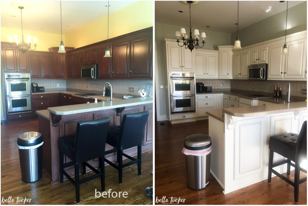 Painted Kitchen Cabinets Before And After 10