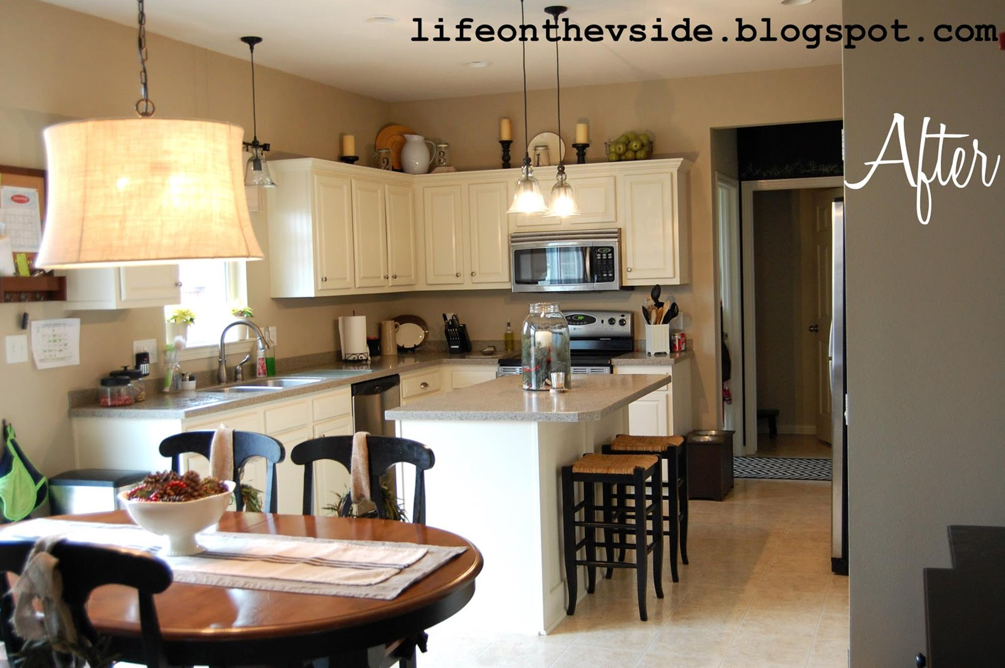 Painted Kitchen Cabinets Before And After 14