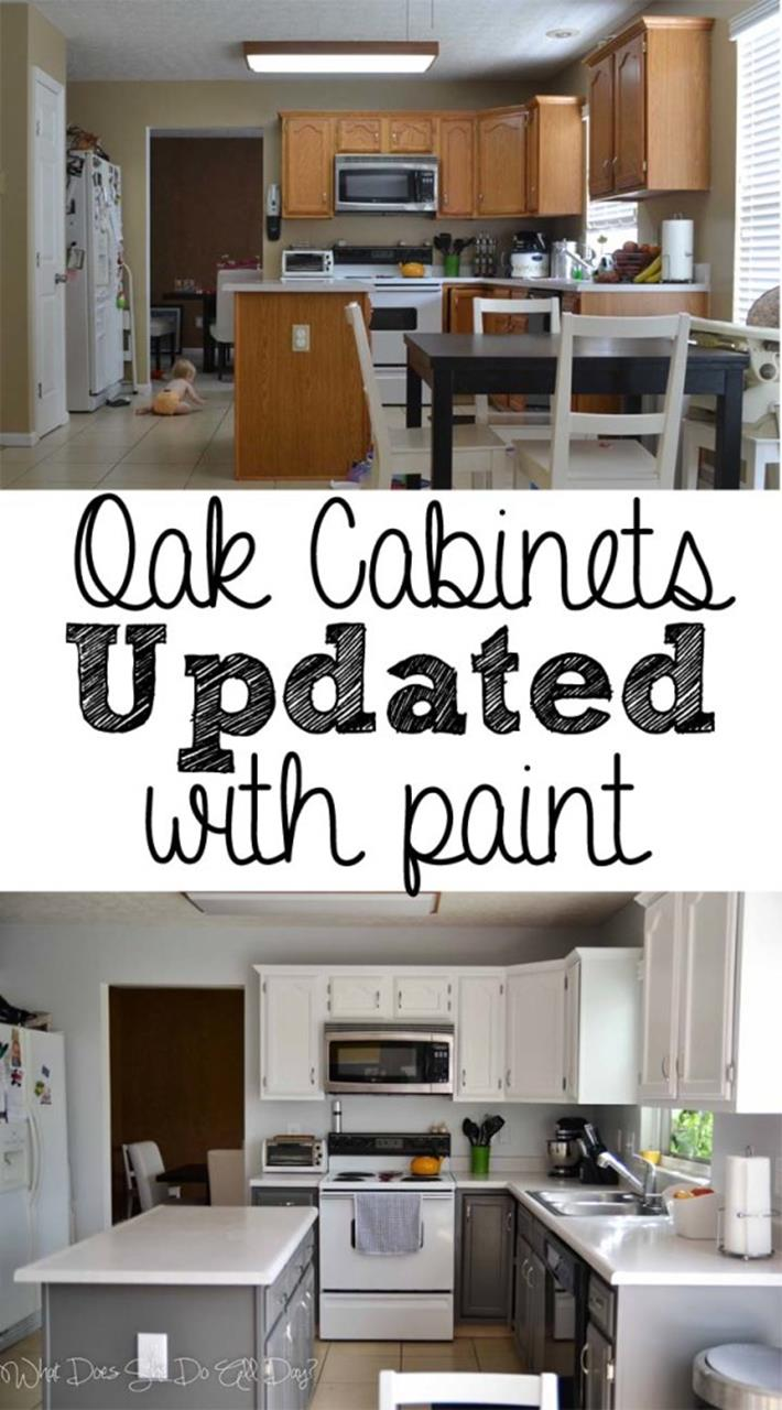 Painted Kitchen Cabinets Before And After 15
