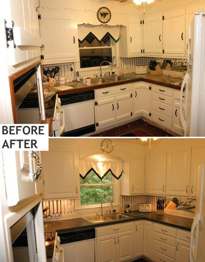 Painted Kitchen Cabinets Before And After 21