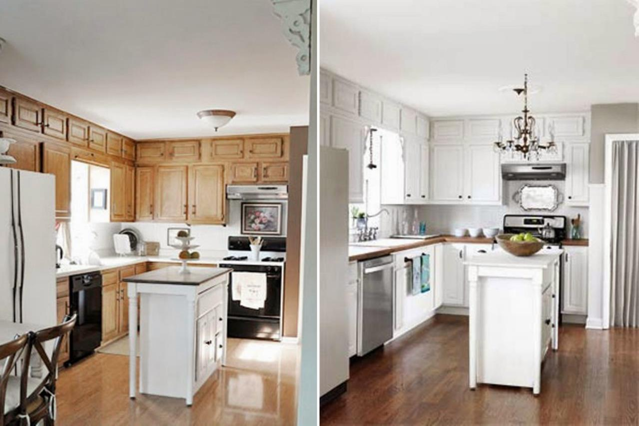Painted Kitchen Cabinets Before And After 22