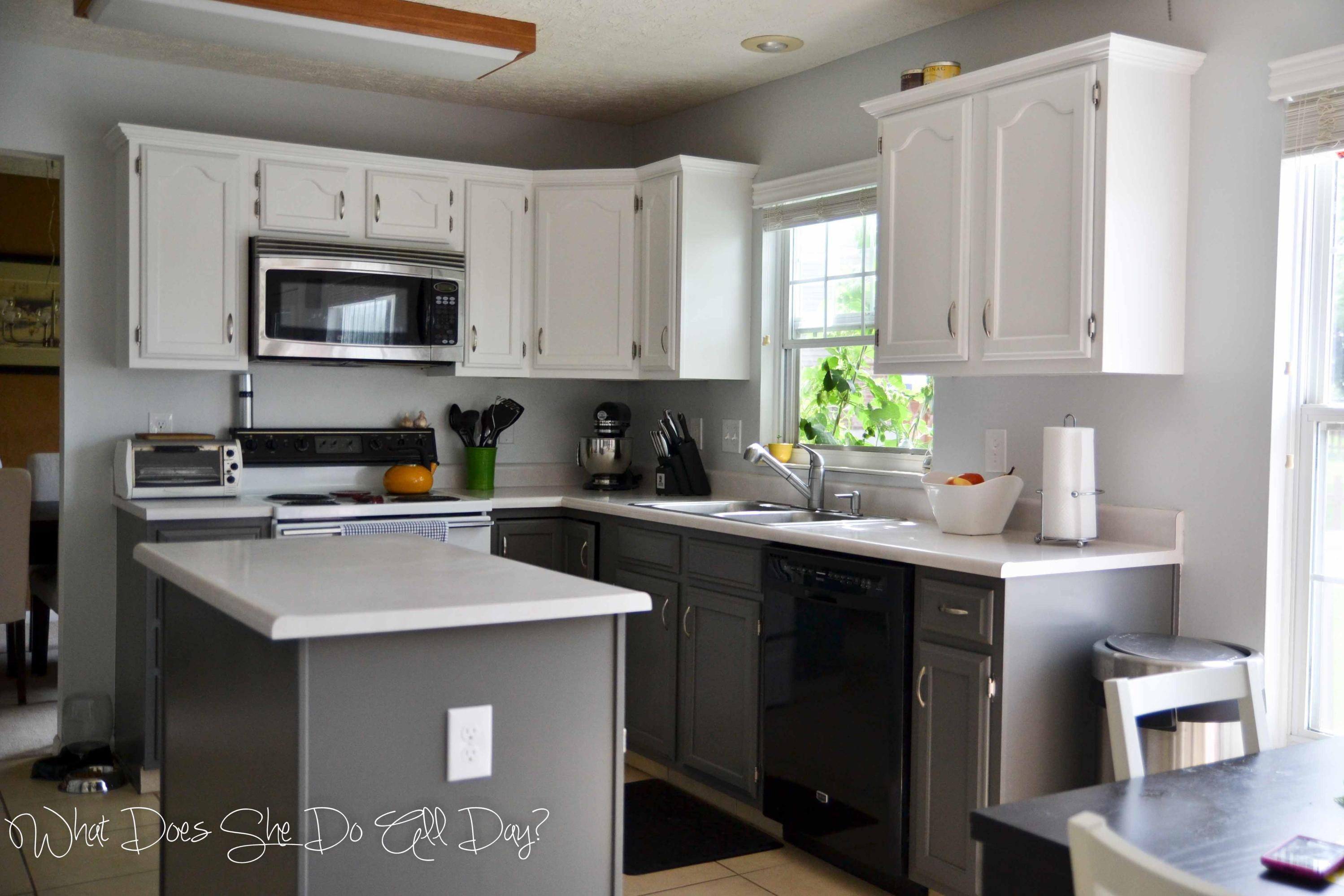 Painted Kitchen Cabinets Before And After 3