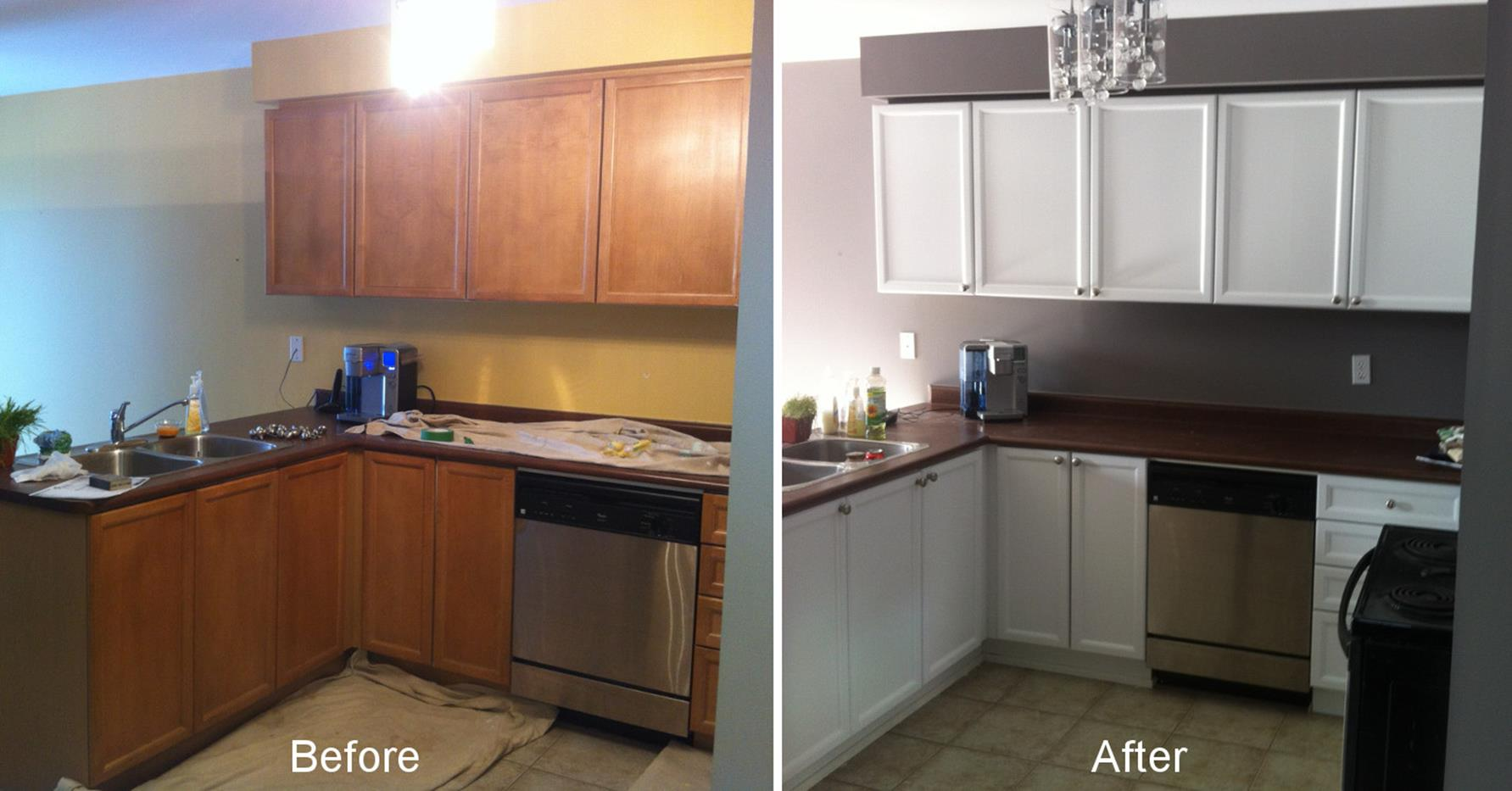 Painted Kitchen Cabinets Before And After 32
