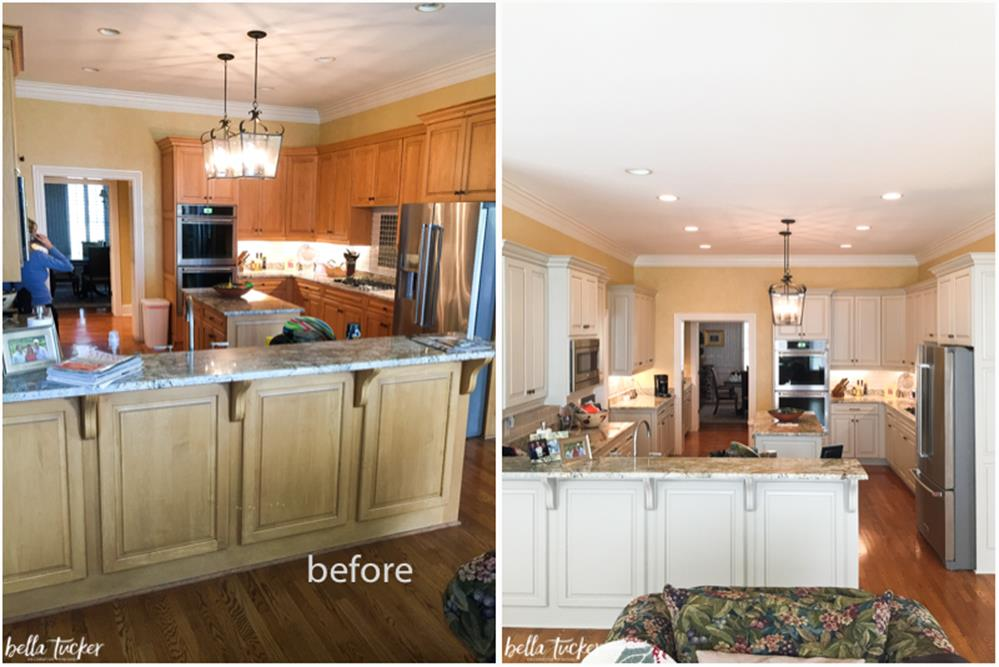 Painted Kitchen Cabinets Before And After 9