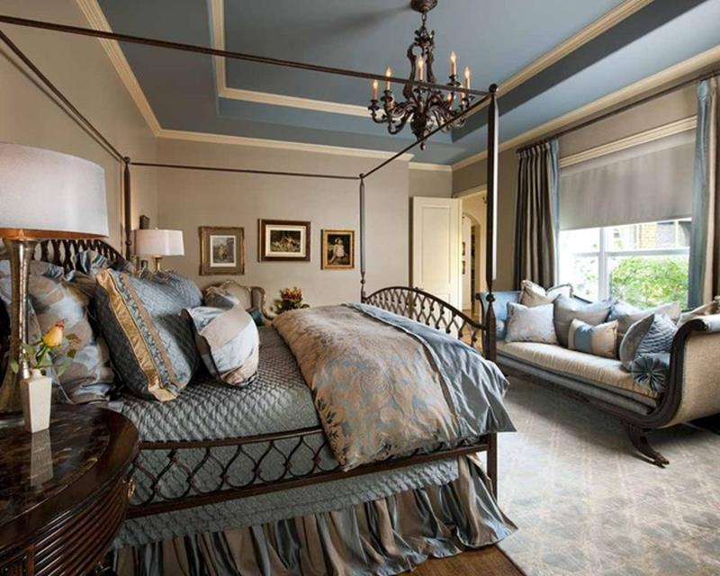Blue And Beige Bedrooms Decorating Ideas 40