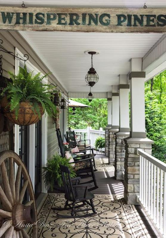 Country Front Porch Spring Decorating Ideas 13