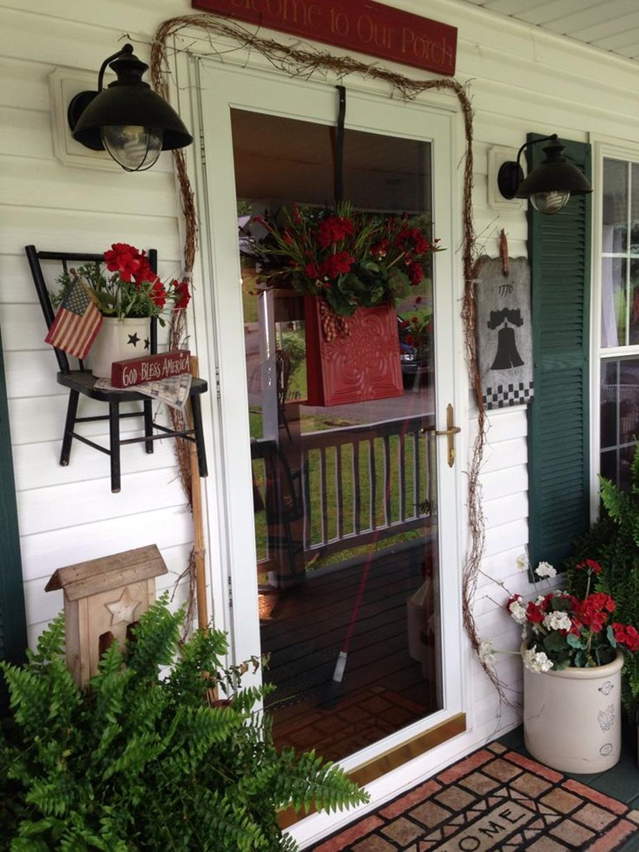 Country Front Porch Spring Decorating Ideas 16