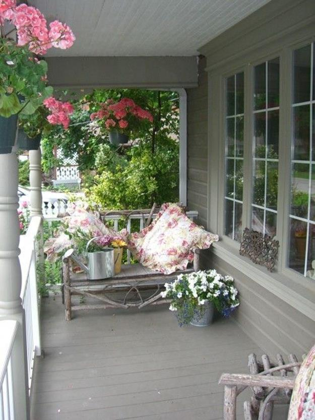Country Front Porch Spring Decorating Ideas 17