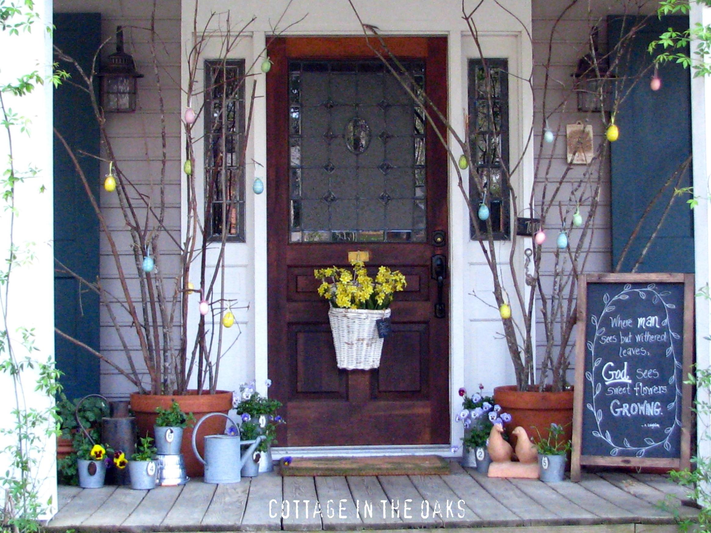 Country Front Porch Spring Decorating Ideas 2