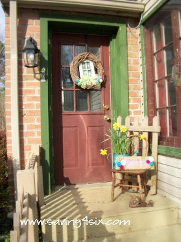 Country Front Porch Spring Decorating Ideas 27