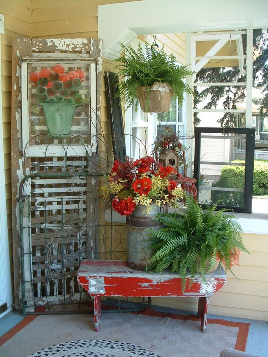 38 stunning country front porch spring decorating ideas for Patio decoration images