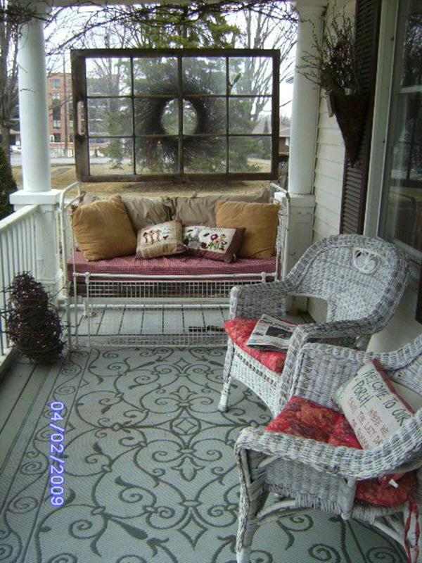 Country Front Porch Spring Decorating Ideas 31