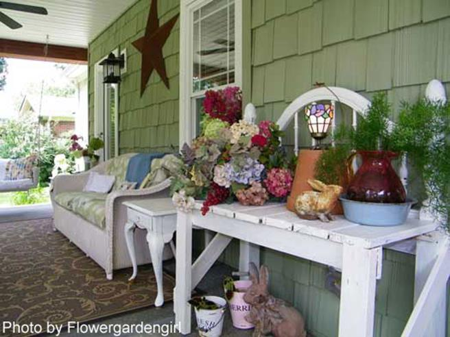 Country Front Porch Spring Decorating Ideas 34