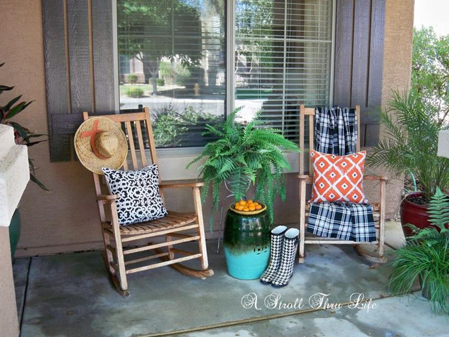 Country Front Porch Spring Decorating Ideas 7