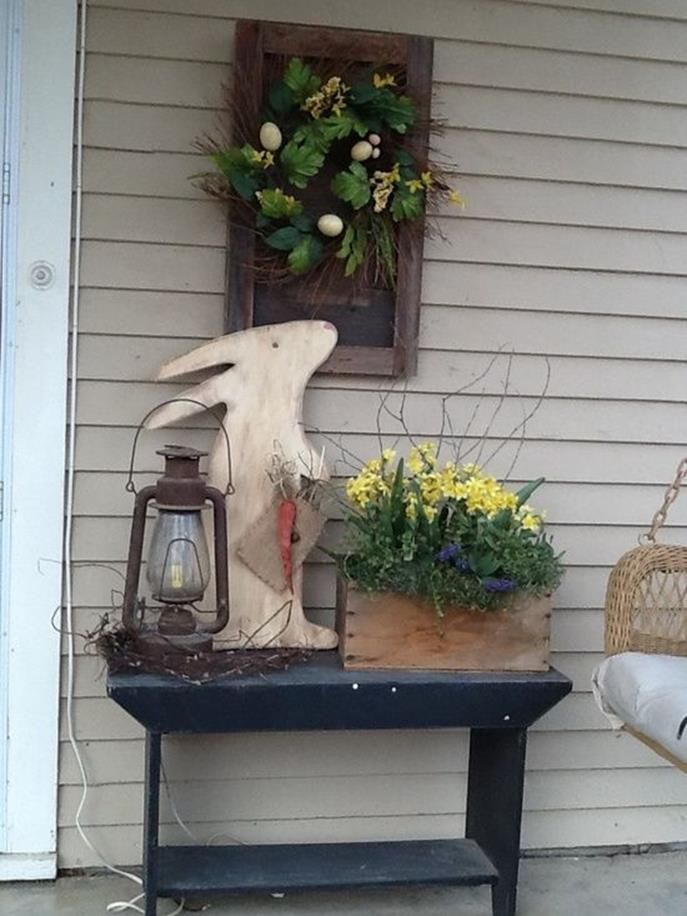 Country Front Porch Spring Decorating Ideas 8