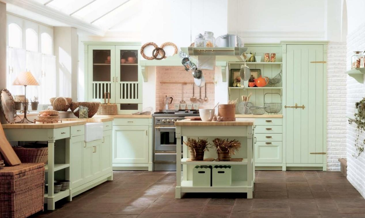 Country Style Kitchen Cabinets Design Ideas 16