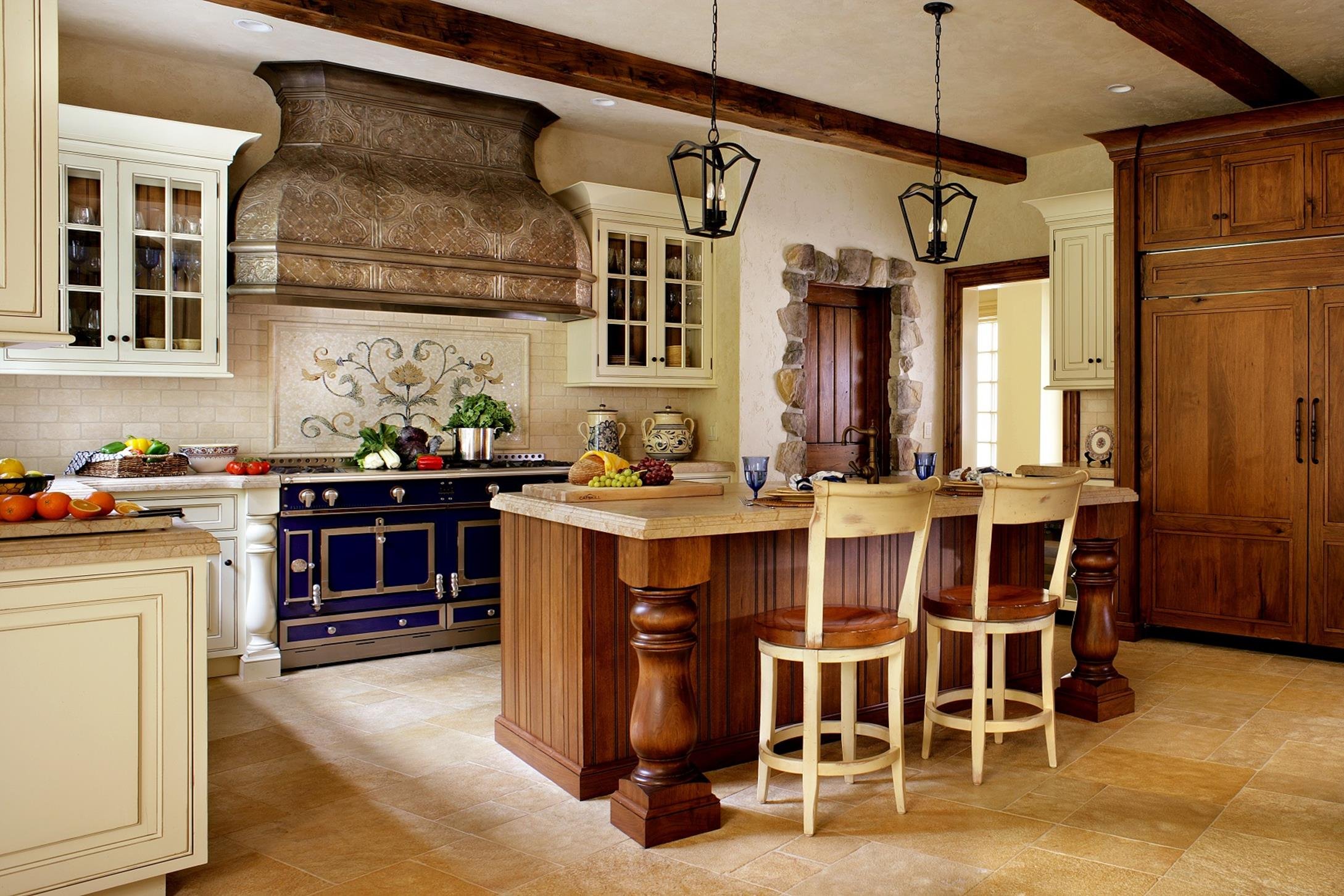 Country Style Kitchen Cabinets Design Ideas 27
