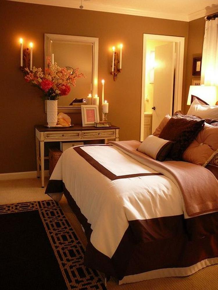 Cozy Romantic Relaxing Bedroom Color Ideas 14