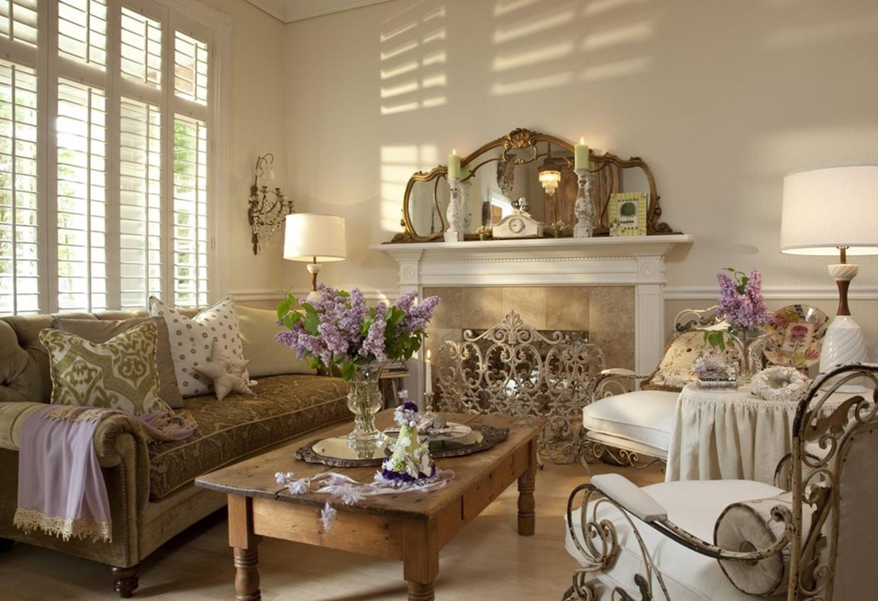 Shabby Chic Living Room Decorating on A Budget 29