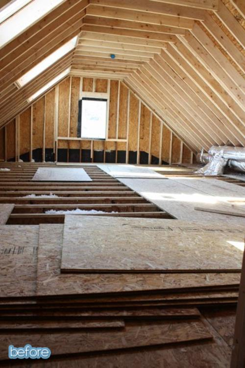 Attic Makeovers Ideas On a Budget 2
