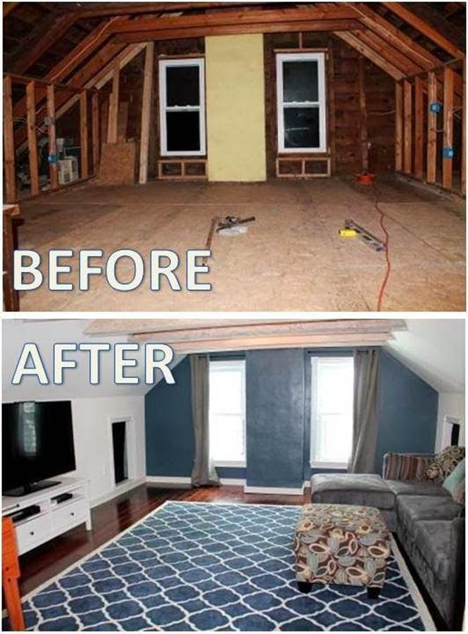 Attic Makeovers Ideas On a Budget 9