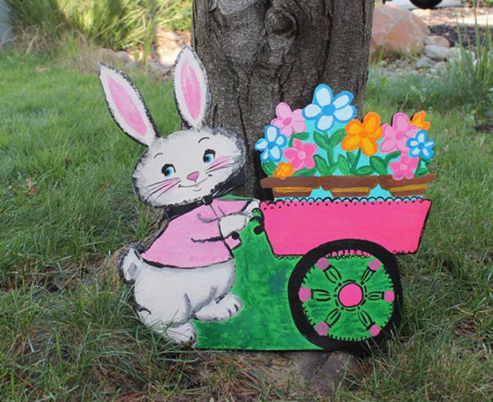 Cute Wooden Easter Decorations for the Outside 27
