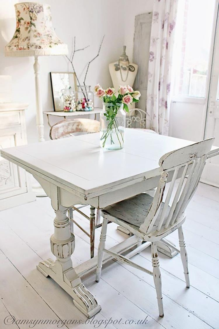 Inexpensive Shabby Chic Craft Table Ideas 23