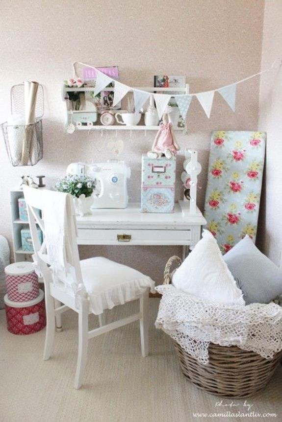 Inexpensive Shabby Chic Craft Table Ideas 25