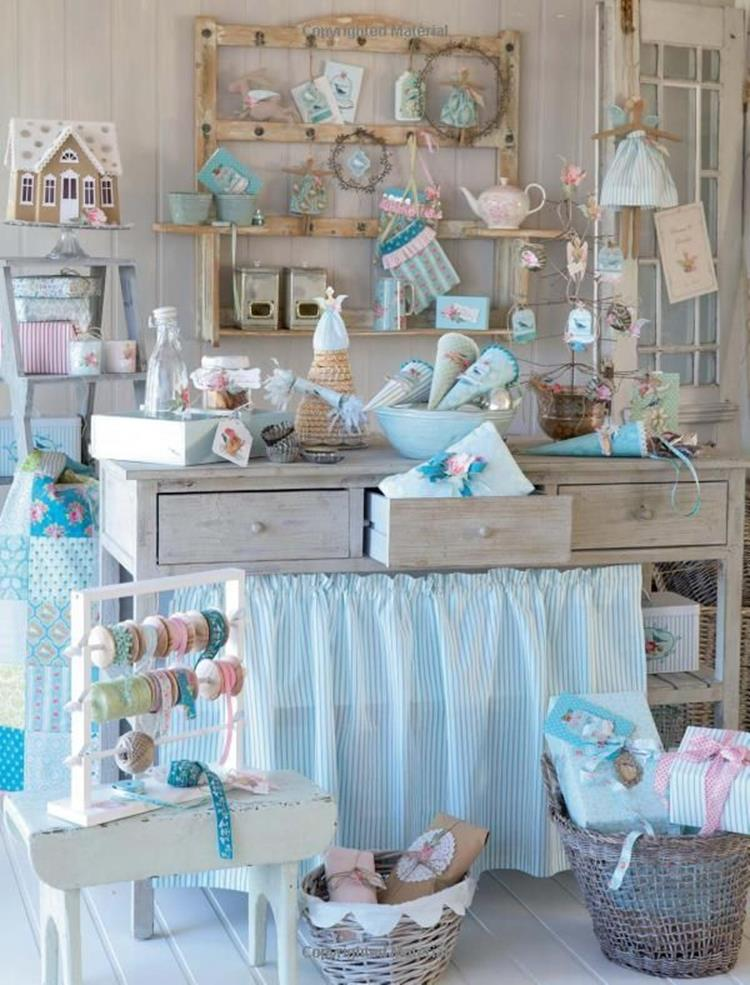 Inexpensive Shabby Chic Craft Table Ideas 3