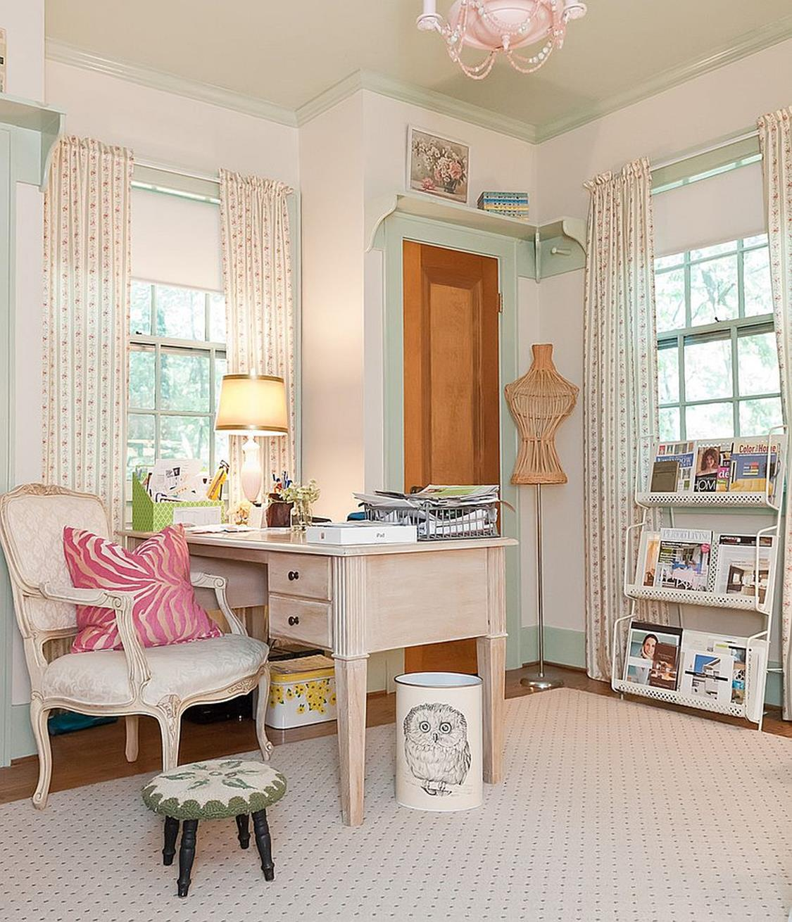 Inexpensive Shabby Chic Craft Table Ideas 43