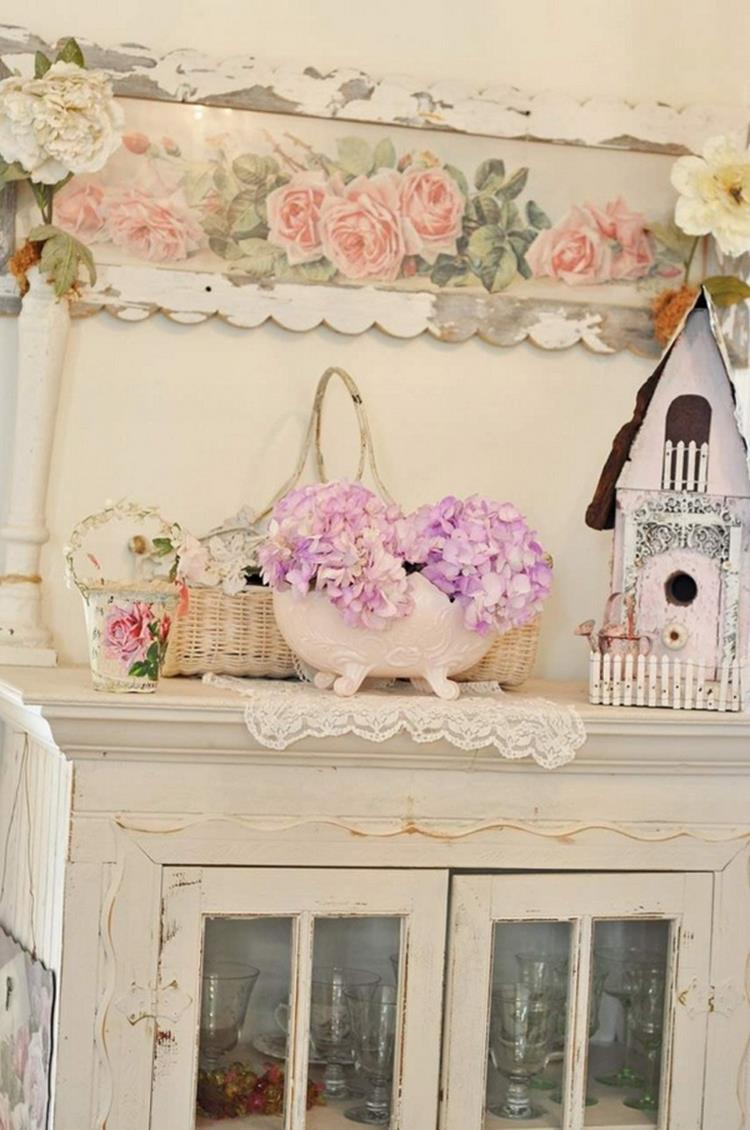 Shabby Chic Kitchen Wall Decorating Ideas 1