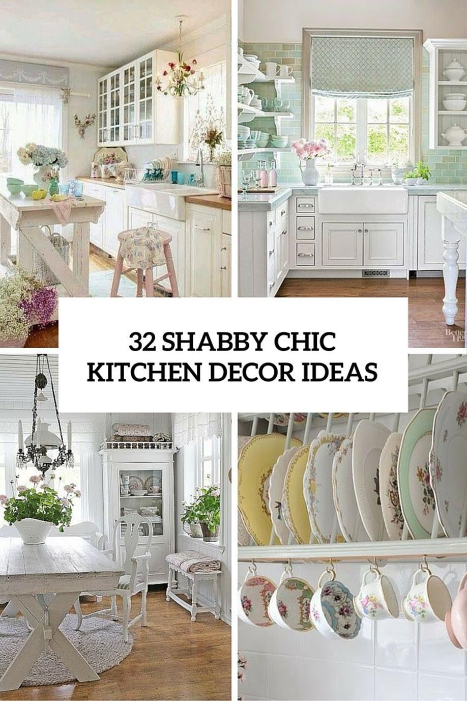 Shabby Chic Kitchen Wall Decorating Ideas 10