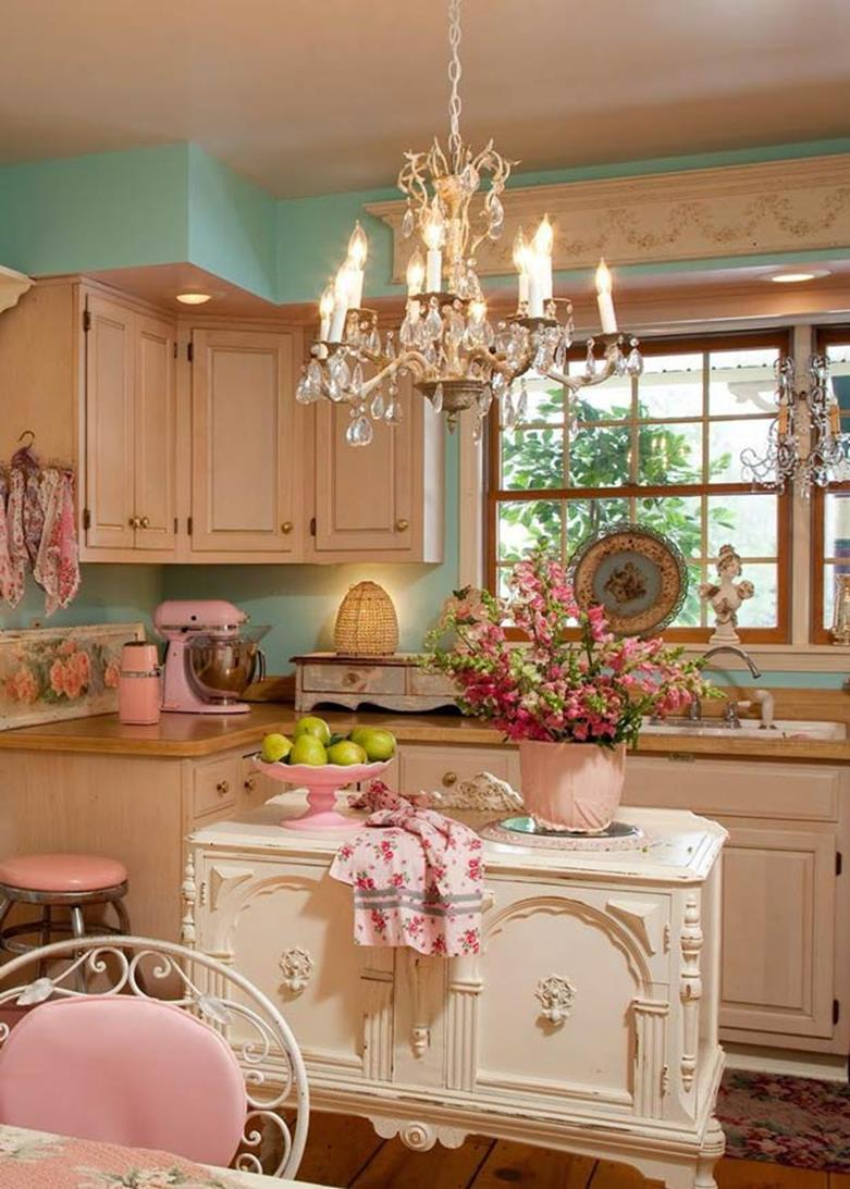 Shabby Chic Kitchen Wall Decorating Ideas 26