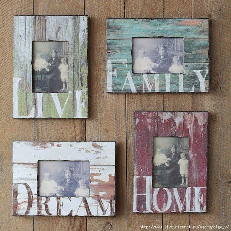 Wooden Picture Frame Decorating Ideas 20