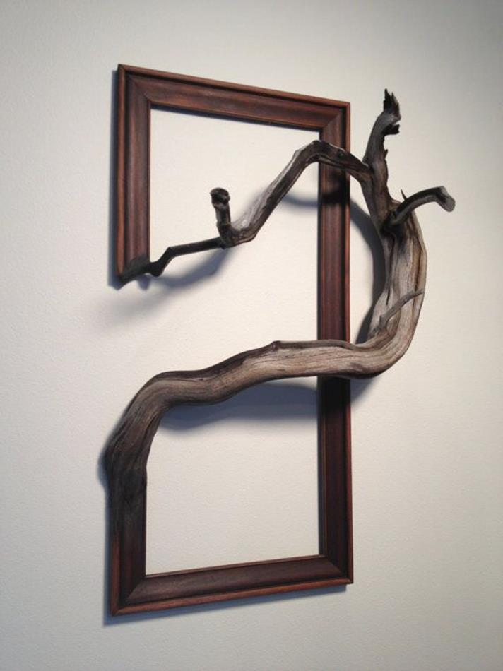 Wooden Picture Frame Decorating Ideas 36
