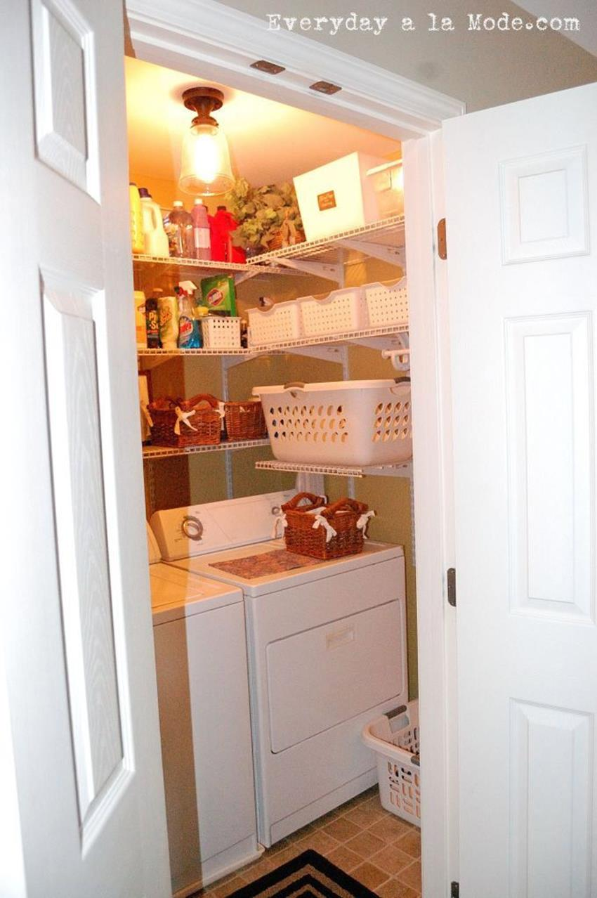 DIY Small Laundry Room Makeovers On a Budget 2