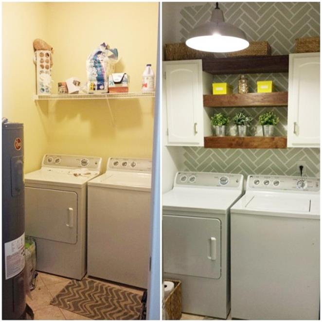 DIY Small Laundry Room Makeovers On a Budget 22