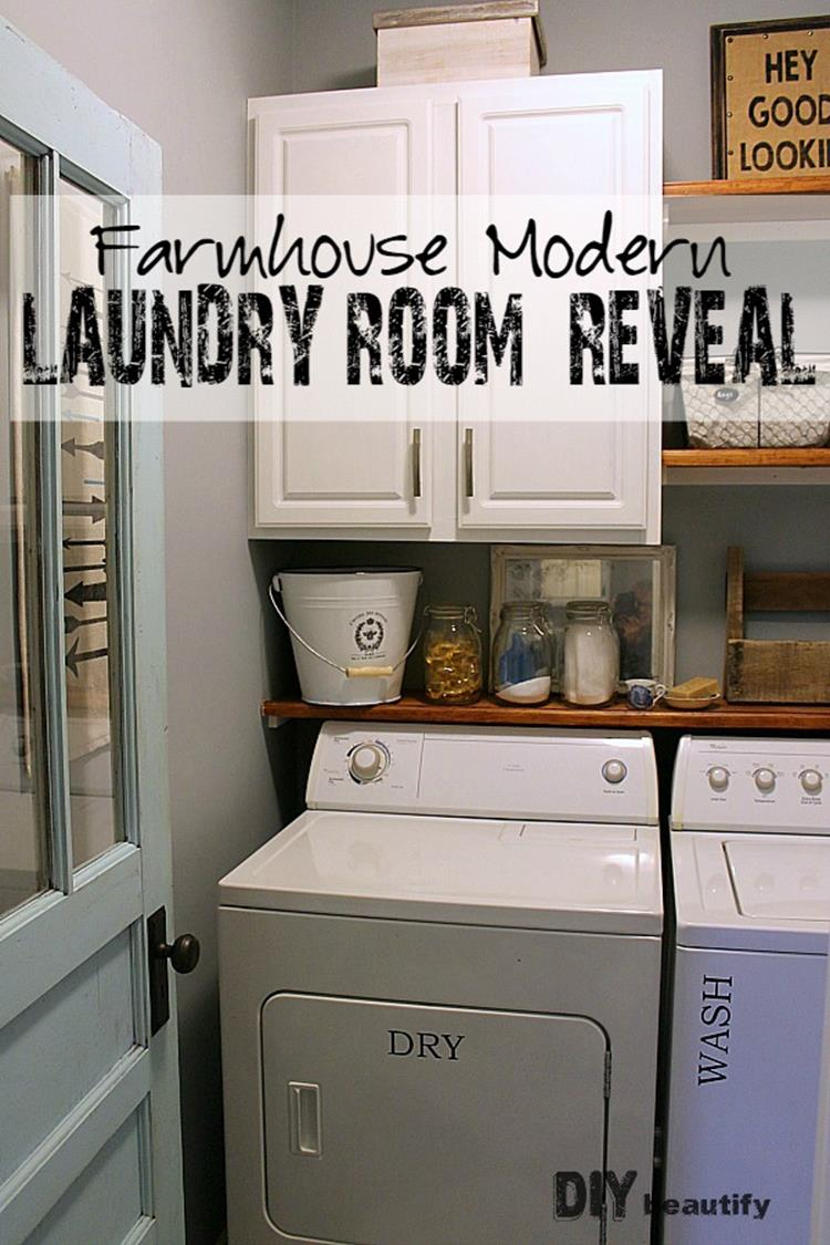 DIY Small Laundry Room Makeovers On a Budget 23
